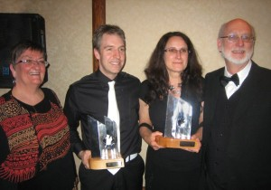 Billie, Ryan and myself with Brian Hades, our publisher
