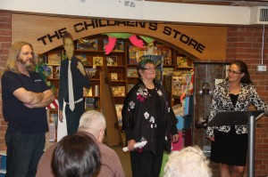All of us at play, in Adureys Bookstore!